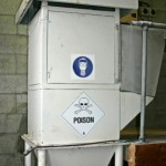 Fluoride container at the water treatment plant
