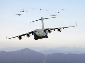 American Globemasters pictured on another mission