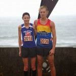 Gabrielle O'Rourke and Mitchell Rutter, trophy winners