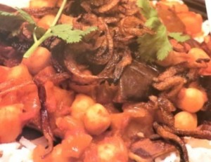 Spicy chickpeas and Aubergine stew-1