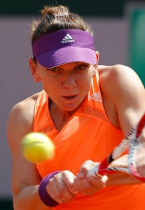 Halep in action