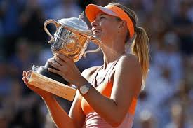 Sharapova with trophy