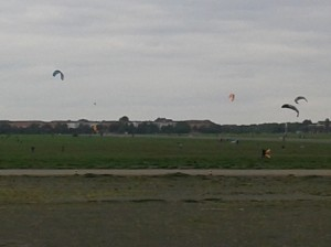 Kite fliers at Tempelhof