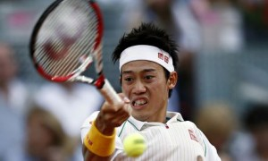 Kei Nishikori shows the form that had Rafael Nadal reeling before the Japanese player had to retire.