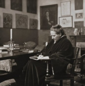 Gertrude Stein at work