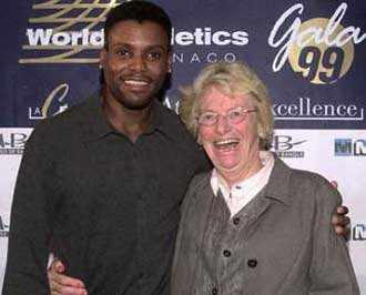 Fanny with Carl Lewis