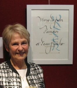 Calligrapher Maxine Livingston, who features in this month's column