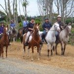 Horses and riders ready to head up the Ti Kouka