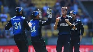 The Black Caps celebrate against England