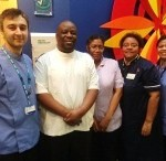 Staff at the Chelsea and Westminster Hospital