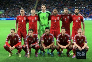The Welsh team doing well