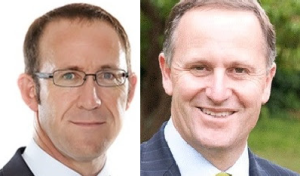 Labour leader Andrew Little and PM John Key
