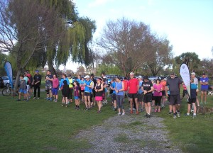 Getting ready to start at the Otaihanga Domain