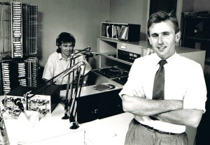 2XX Station Manager Dave Campbell, and local announcer Rob Walker