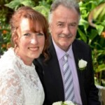 Vicki and Ross Church at their wedding a year ago