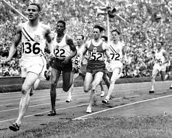 Mal Whitfield on his way to  winning Olympic gold in 1948
