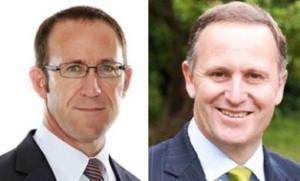 Andrew Little and John Key