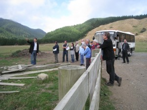 Councillors and KCDC staff visiting the dam lake site