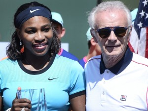 The infamous Raymond Moore with world number one Serena Williams