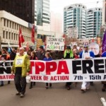 Anti-TPPA protest in Wellington
