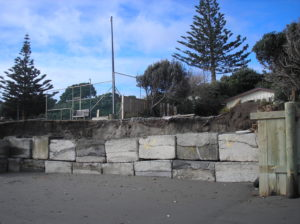 The concrete blocks south of the S bends