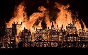 Remembering the fire of 350 years before. (Photo credit: The Telegraph)