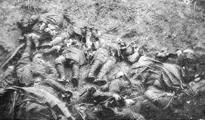 Dead soldiers in World War I