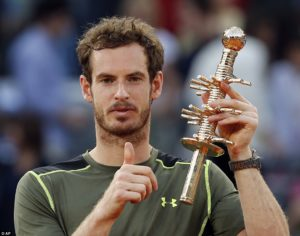 The Madrid Open trophy won back in May