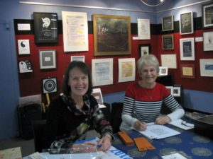 Calligraphy at Waikanae Library