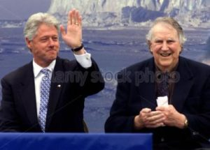 US President Clinton and Sir Edmund Hillary