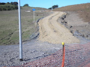 Building the cycleway/walkway north from the Wharemauku Stream