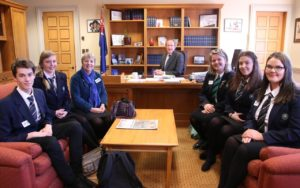 Students in Andrew Little s office