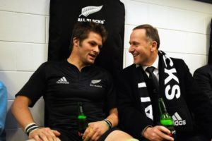 John Key with Richie