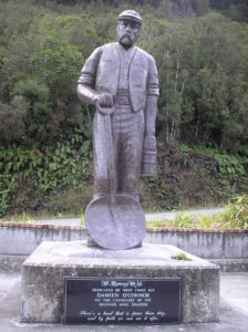 The memorial to the Brunner miners (Photo by Pam Childs)