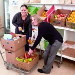 City Mission workers in the Food Bank