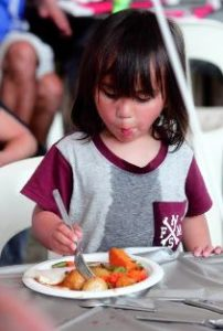 Good food provided free for children