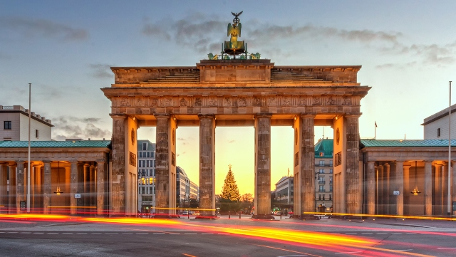 The historic Brandenberg Gate in Berlin